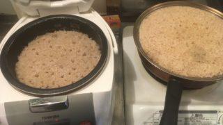 炊きあがったキヌア玄米