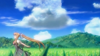 夏の山を走り回るAIRの神尾観鈴