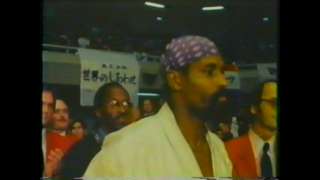 極真空手の第2回世界大会で戦うウイリー・ウイリアムス