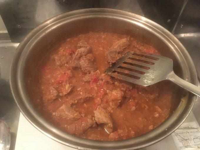 牛豚肉のマトンカレー